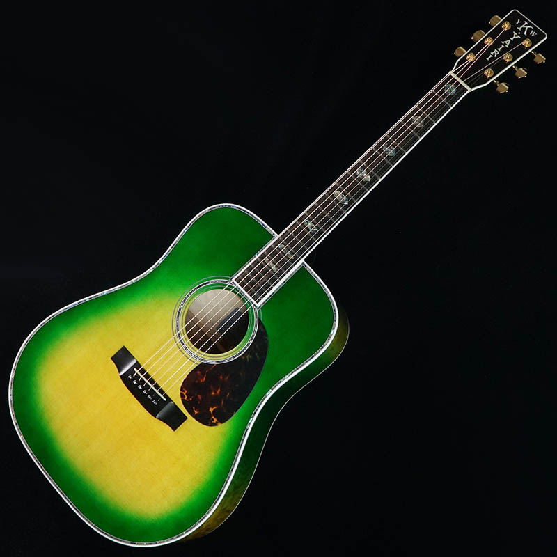 "K.Yairi Standard Series Ikebe Order YW-1000HQ ""Quilt Maple"" (Green Burst) 【今なら皮製ストラップ・ピックプレゼント!】"