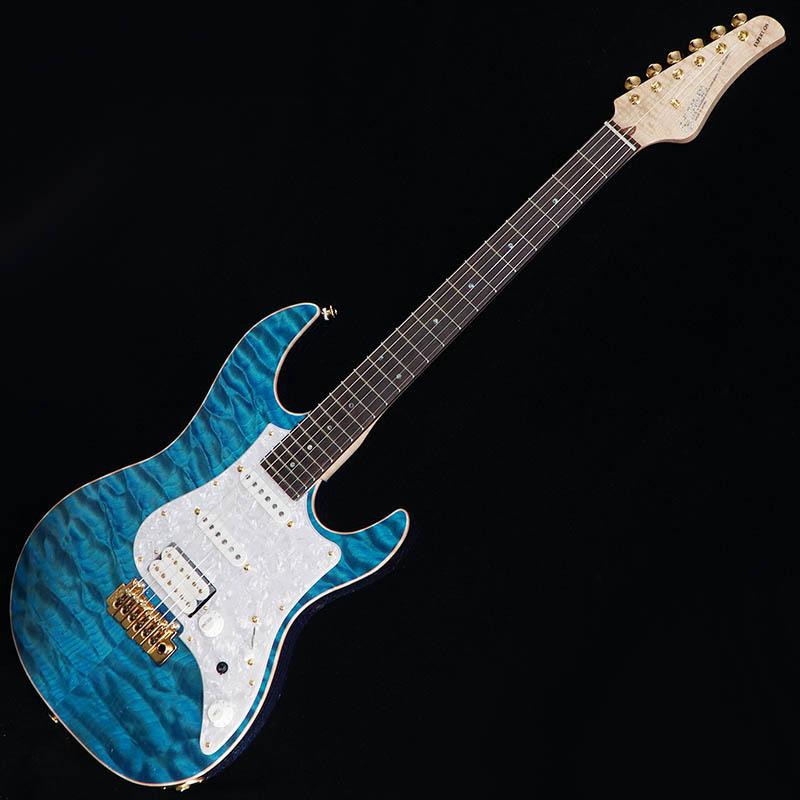 "FUJIGEN IKEBE ORDER EXPERT EOS Selected Quilt Maple/Flame Maple Neck (Transparent Blue/Blue Voodoo Back) [#A180244] 【数量限定""フジゲン特製クロスセット""プレゼント キャンペーン】 【フジゲン特製革ピックホルダー・プレゼント!】 【期間限定プライス】"