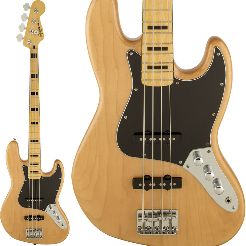 Squier by Fender Vintage Modified Jazz Bass 70s (Natural) 【期間限定プライス】
