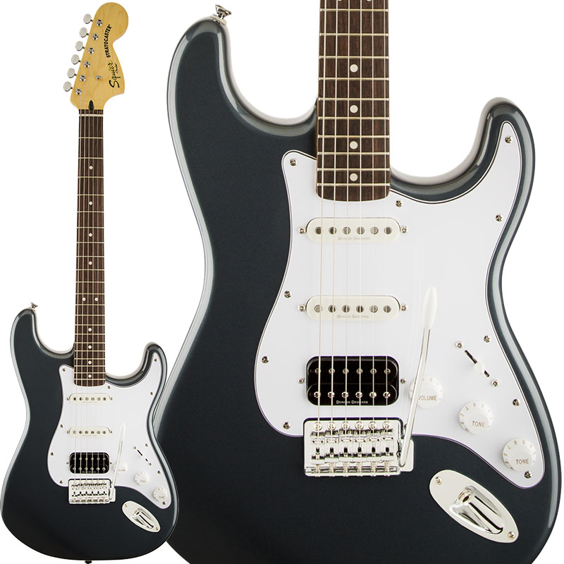 Squier by Fender Vintage Modified Stratocaster HSS (Black) 【特価】