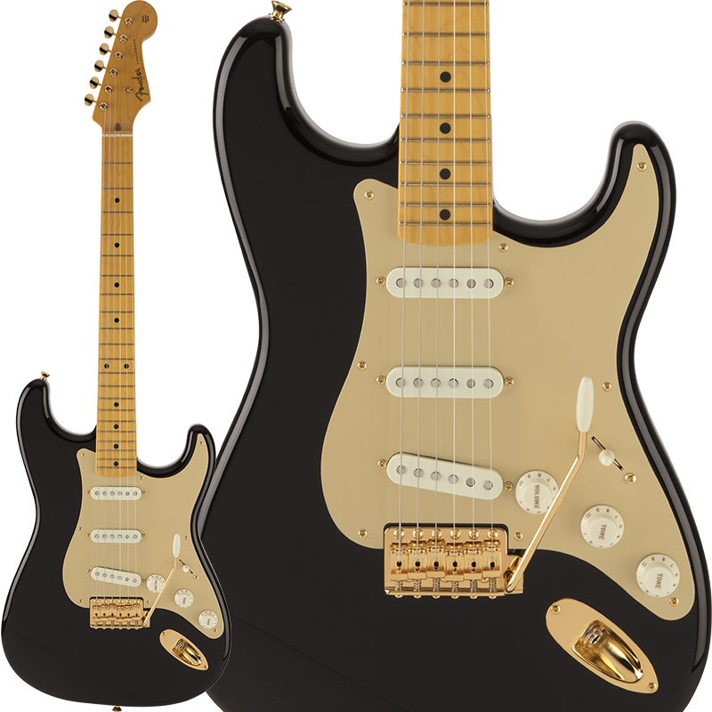Fender Traditional 50s Stratocaster Anodized (Black) [Made in Japan] 【ikbp5】