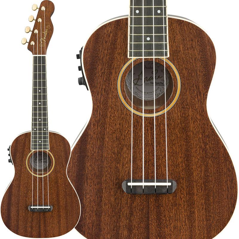 Acoustics Vanderwaal Fender (Natural/Walnut) Uke Grace Signature