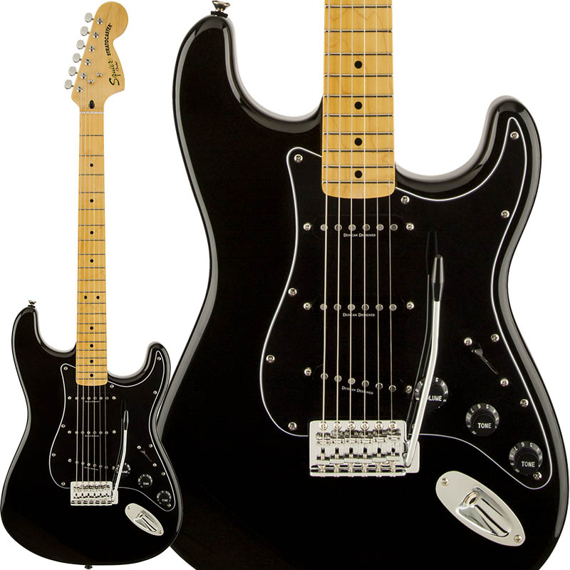 Squier by Fender Vintage Modified Stratocaster '70s Stratocaster (Black) 【期間限定プライス】