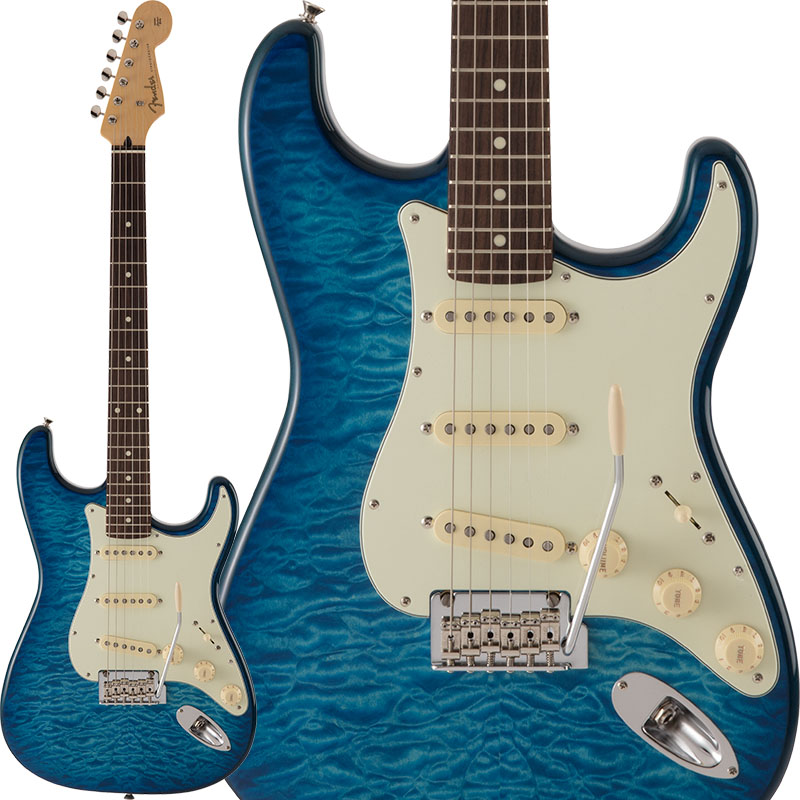 Fender (Transparent FSR Made in Japan CAMPAIGN】 Hybrid 60s【FENDER Stratocaster Quilt Top (Transparent Blue) [Made in Japan]【ikbp5】【FENDER THE SPRING-SUMMER 2019 CAMPAIGN】, 服飾雑貨 リスト:9f307ca4 --- data.gd.no