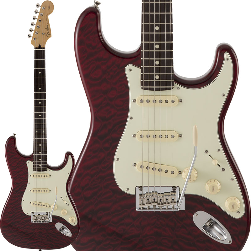 Fender FSR Made in Japan Hybrid 60s Stratocaster Quilt Top (Transparent Red) [Made in Japan] 【ikbp5】