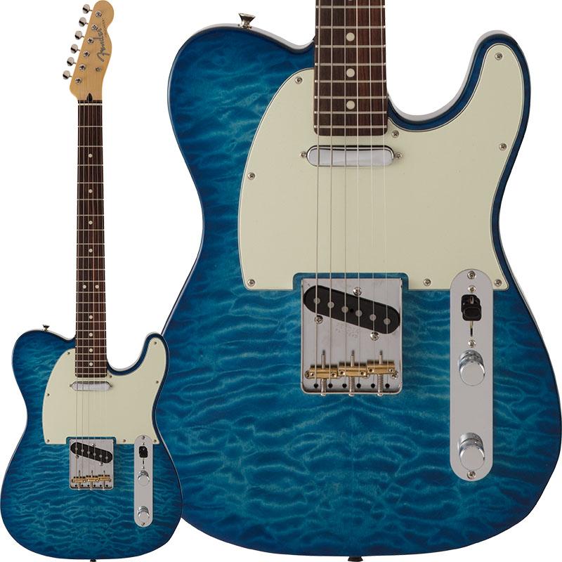 Fender FSR Made in Japan Hybrid 60s Telecaster Quilt Top (Transparent Blue) [Made in Japan] 【ikbp5】
