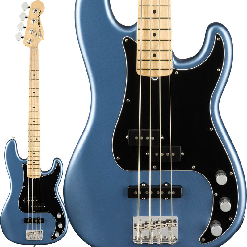 Fender American Performer Precision Bass (Satin Lake Placid Blue/Maple) [Made In USA] 【ikbp5】