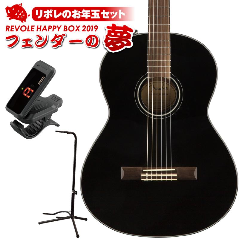 Fender Acoustics CN-60S (Black) 【10セット限定お年玉セット】