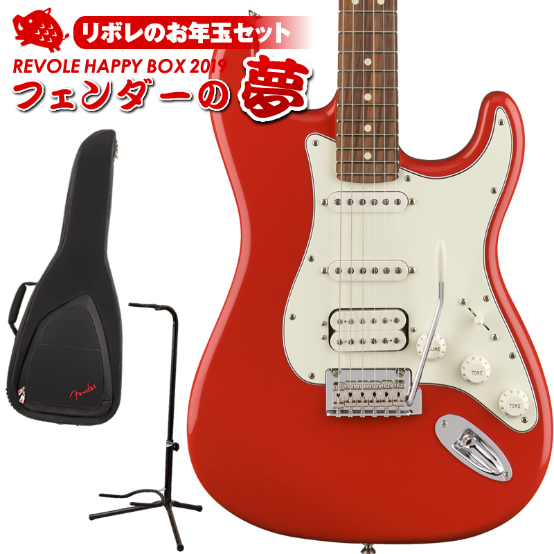 Red/Pau HSS [Made Fender In Stratocaster Mexico] Player Ferro) 【3セット限定お年玉セット】 (Sonic