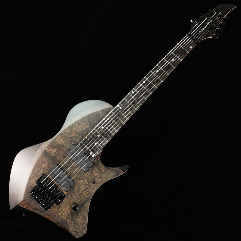 エレキギター Abasi Guitars Custom7 FRT Maple Burl Fingerboard トシン 買い取り Black アバシ直筆サイン入り Top 格安激安 Ebony Satin