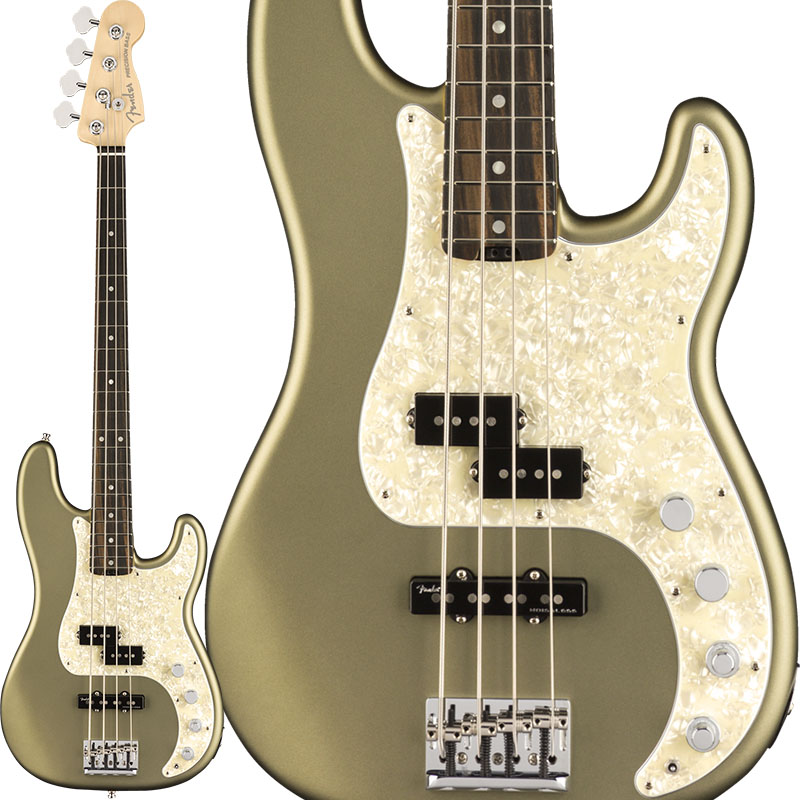 Fender American Elite Precision Bass (Satin Jade Pearl Metallic/Ebony) [Made In USA] 【特価】