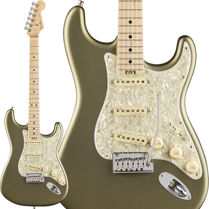 【全品送料無料】 Fender (Satin American Elite Stratocaster (Satin Jade Metallic/Maple) Pearl USA] Metallic/Maple) [Made In USA]【ikbp5】, 倉吉市:8db8af81 --- tringlobal.org