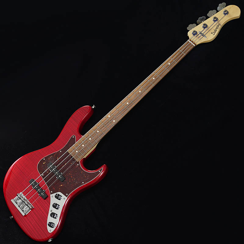"""Sadowsky NYC Will Lee 4-string / 22F """"Flame Maple Top"""" (Trans Red)"""