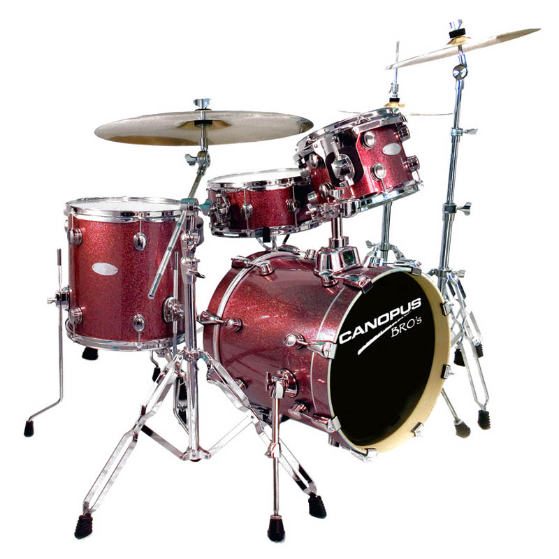 CANOPUS BRO'S DRUM KIT [SK-16] (BD16, FT13, TT10, SD13 / Platinum Ruby) 【お取り寄せ商品】