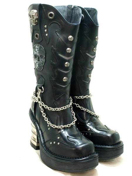 NEWROCKニューロックレディスブーツ N-8304S1*ハードな中にもキュートなイメージを表現した 女性ならではのブーツです*