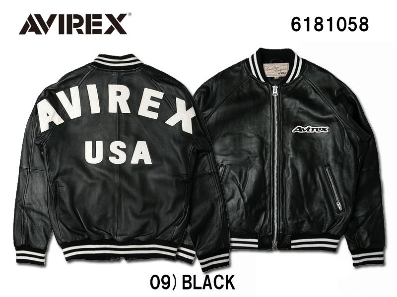 送料無料 AVIREX アヴィレックス 代引き不可 バックロゴ ご予約品 シープジャケット LOGO SHEEP 6181058 BACK JACKET