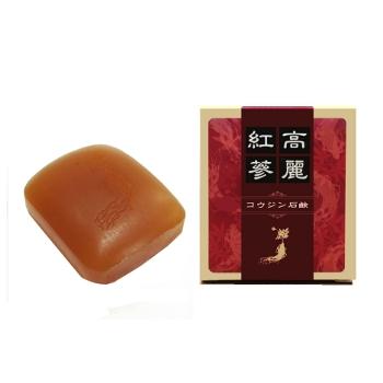 【人参石鹸】6年根紅参エキス配合石鹸乾燥肌、敏感肌の方にコウジンソープ