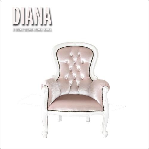 【設置代無料】ロココ調レディースチェア DIANA ダイアナ アンティーク風 姫系 輸入家具 椅子 sofa 1Pソファ 一人掛け いす クラシック 女子家具 ヨーロピアン 高級感 78cm ラグジュアリー インスタ映え 個性的 エレガント インテリア かわいい おしゃれ セール