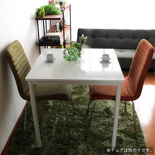 白い鏡面テーブル「LEAP」