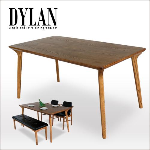 北欧 ダイニングテーブル 単品 DYLAN ディラン | アンティーク 北欧風 レトロ 木製 天然木 4人 4人用 デザイナーズ 風 ダイニング用 食卓用 テーブル ヴィンテージ アンティーク調 モダン おしゃれ 送料無料 gkw