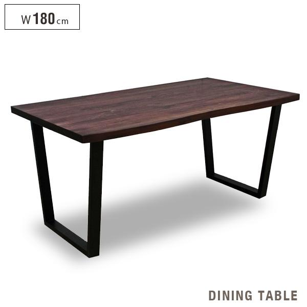 激安単価で ダイニングテーブル 180 1枚板風 北欧風 6人掛け アンティーク風 木製 カフェテーブル アイアン脚 シンプル ウォールナット レトロ モダン インテリア テーブル単品 ヴィンテージ風 おしゃれ 送料無料 gkw, アイアン雑貨ELISE c3ccf829