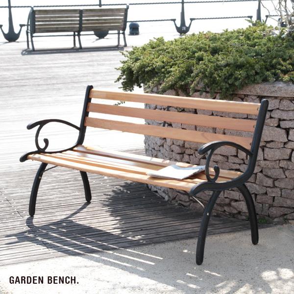 【特価2個セット】 ガーデンベンチ 【代引不可】 パークベンチ ベンチチェア ガーデンチェア 屋外ベンチ 木製 天然木 おしゃれ 送料無料