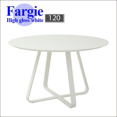 ダイニング丸テーブル 120 Fergie ファギー| テーブル 白 ホワイト カフェ 丸 丸テーブル ホワイトテーブル アジャスター アジャスター付き リビング シンプル 寝室 モダン かわいい 可愛い 人気 オシャレ 送料無料