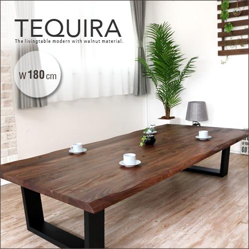 一枚板風 座卓 ウォールナット 180 TEQUIRA テキーラ 無垢 無垢材 センターテーブル 木製 天然木 180cm テーブル リビングテーブル ローテーブル アンティーク レトロ 和風 モダン 和モダン 大きめ おしゃれ itp gkw