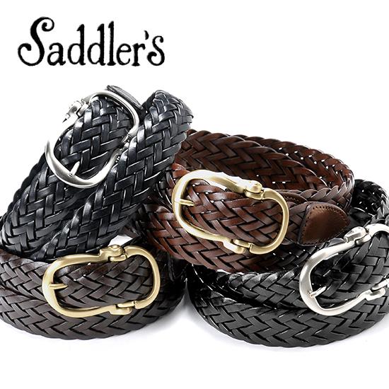サドラーズ Saddler's/ バタフライバックルレザーメッシュベルト『G106』(4 colors)ベルト レザー 革 イタリア製 カジュアル 【ラッピング対応】 | メンズ レザーベルト 革ベルト 皮ベルト メッシュベルト メッシュ ブランド 革製品 革小物