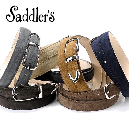 サドラーズ Saddler's/ カーフスエードプンターレベルト「G167」(7 colors)ベルト レザー 革 イタリア製 ドレス ビジネス 【ラッピング対応】 | メンズ レザーベルト 革ベルト 皮ベルト ビジネスベルト ブランド 男性 おしゃれ スーツ 紳士