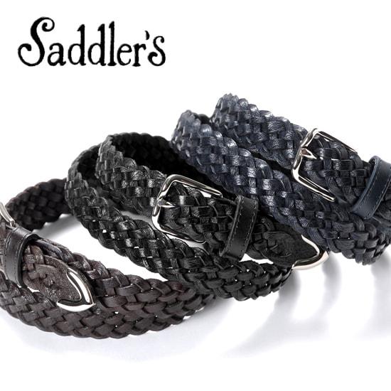 サドラーズ Saddler's/ 手編みレザーメッシュプンターレベルト『G286』(3 colors)ベルト レザー 革 イタリア製 カジュアル 【ラッピング対応】 | メンズ レザーベルト 革ベルト 皮ベルト メッシュベルト メッシュ カジュアルベルト ブランド