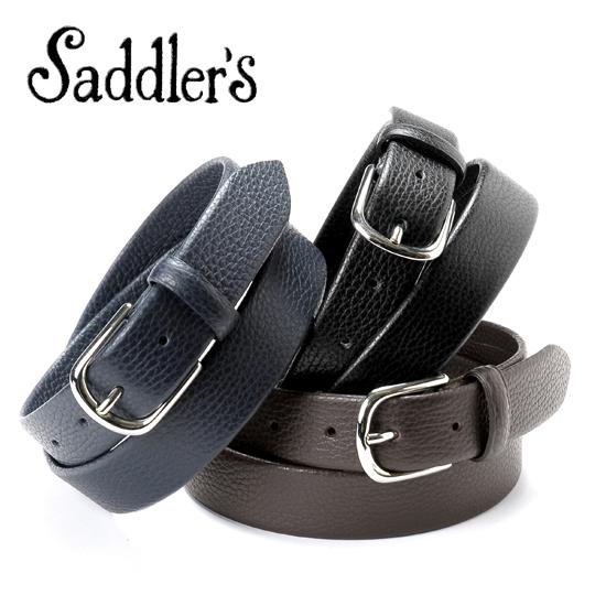 サドラーズ Saddler's/ シュリンクレザーベルト「G343」(3 colors)ベルト レザー 革 イタリア製 ドレス ビジネス 【ラッピング対応】 | メンズ レザーベルト 革ベルト 皮ベルト ビジネスベルト ブランド 男性 おしゃれ スーツ 紳士 革製品