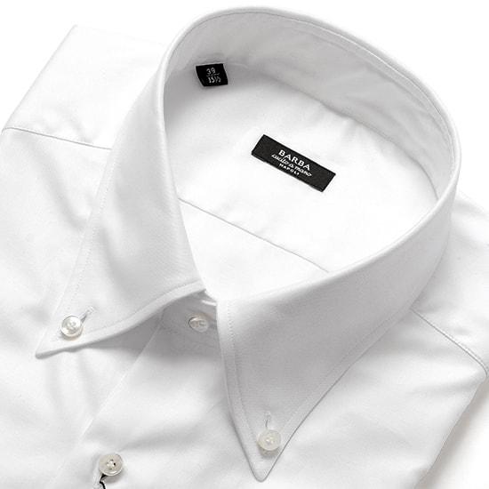 バルバ BARBA / 【国内正規品】 19-20AW!コットンピンポイントオックスフォードボタンダウンカラーシャツ「BRK」(ホワイト)/ メンズ イタリア ナポリ ドレスシャツ ワイシャツ オールシーズン 無地 ビジネス