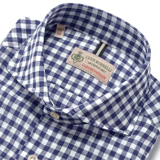 Luigi Borrelli Stripes Button Down Button-Down Collar Cotton Slim Fit Dress Shirt