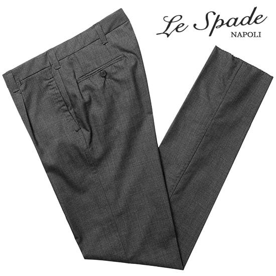 レスパーデ Le Spade / 【国内正規品】 / CANONICO Super120'sウールトロピカル手縫い1プリーツパンツ(チャコールグレー)【ハンガー便選択OK】/ メンズ イタリア ナポリ ナポリ仕立て 手縫い 丸縫い ビジネス スラックス