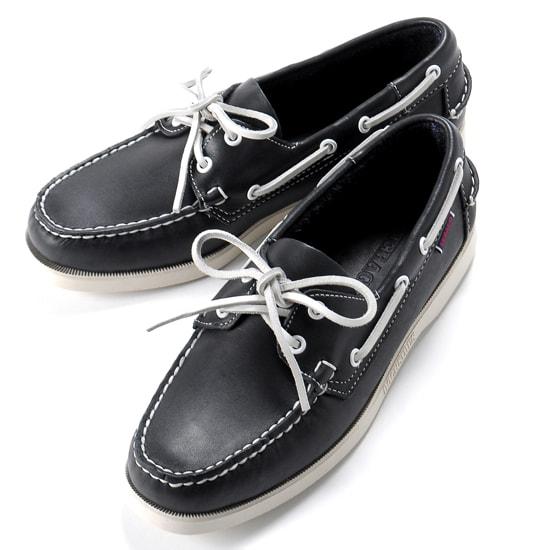 【クーポン取得&使用で15%OFF】セバゴ SEBAGO / 【国内正規品】 / 20SS!レザーデッキシューズ「PORTLAND」(BLUE NAVY/ダークネイビー)/ メンズ 靴 革靴 レザーシューズ モカシン アメリカ ドッグサイド ポートランド