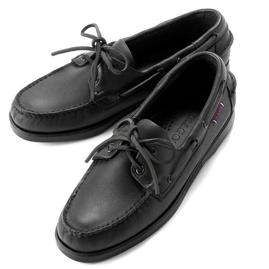 【クーポン取得&使用で15%OFF】セバゴ SEBAGO / 【国内正規品】 / 20SS!レザーデッキシューズ「PORTLAND」(BLACK/ブラック)/ メンズ 靴 革靴 レザーシューズ モカシン アメリカ ドッグサイド ポートランド
