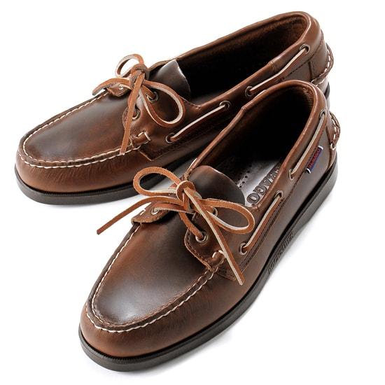 【クーポン取得&使用で15%OFF】セバゴ SEBAGO / 【国内正規品】 / 20SS!ワックスレザーデッキシューズ「PORTLAND WAXED」(BROWN/ブラウン)/ メンズ 靴 革靴 レザーシューズ モカシン アメリカ ドッグサイド ポートランド