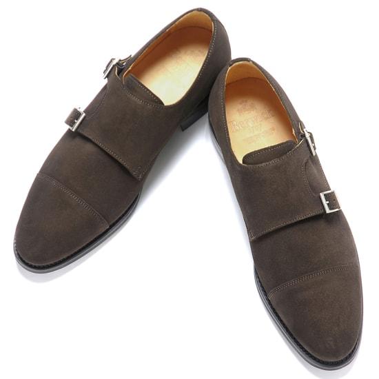 バーウィック Berwick1707 / スエードダブルモンクストラップシューズ『3637』(173/ ダークブラウン )/ 靴 シューズ ダブルモンク 茶 ダブルモンク ダイナイトソール ストレートチップ 革靴 ビジネス カジュアル レザーシューズ