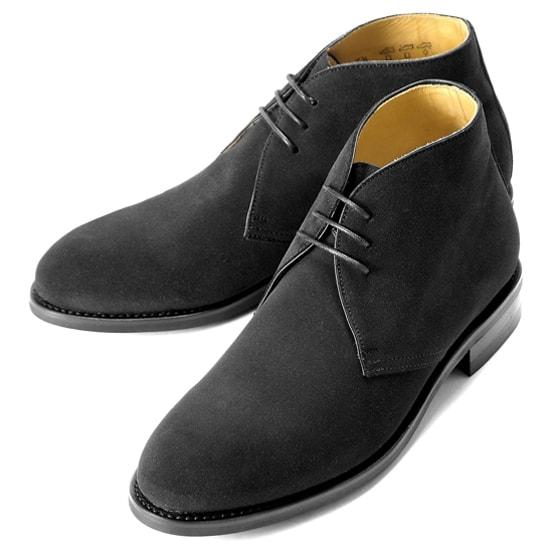 バーウィック Berwick1707 / スエードチャッカブーツ『320』(NEGRO/ ブラック )/ 靴 シューズ チャッカ ブーツ 黒 チャッカブーツ スエード メンズ チャッカーブーツ デザートブーツ ビジネス ショートブーツ