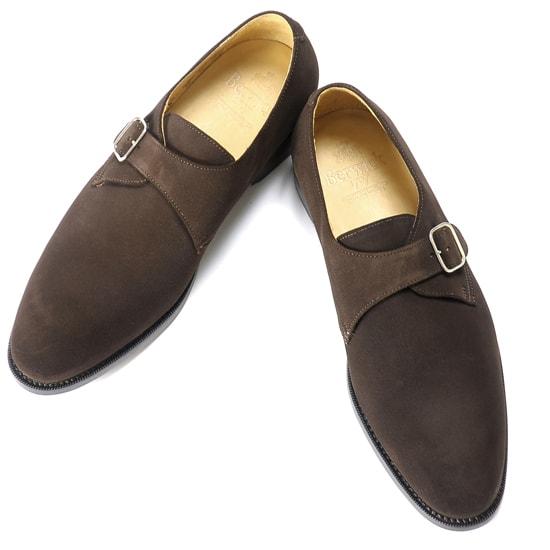 【クーポン取得&使用で15%OFF】バーウィック Berwick1707 / スエードシングルモンクストラップシューズ「4319」(173/ ダークブラウン ) 靴 メンズ ブランド | モンクストラップ ビジネスシューズ ビジネス レザーソール フォーマルシューズ メンズシューズ