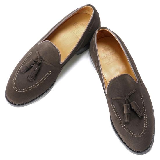 バーウィック Berwick1707 / スエードタッセルローファー『4171』(173/ ダークブラウン ) 靴 シューズ タッセル ローファー 茶 スエード / berwick ビジネス カジュアル レザーシューズ スリッポン レザー ビジネスシューズ