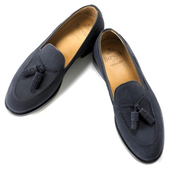 【クーポン取得&使用で15%OFF】バーウィック Berwick1707 / スエードタッセルローファー「4171」(NAVY/ ネイビー ) 靴 シューズ タッセル ローファー 紺 スエード / berwick 革靴 ビジネス カジュアル レザーシューズ スリッポン レザー ビジネスシューズ