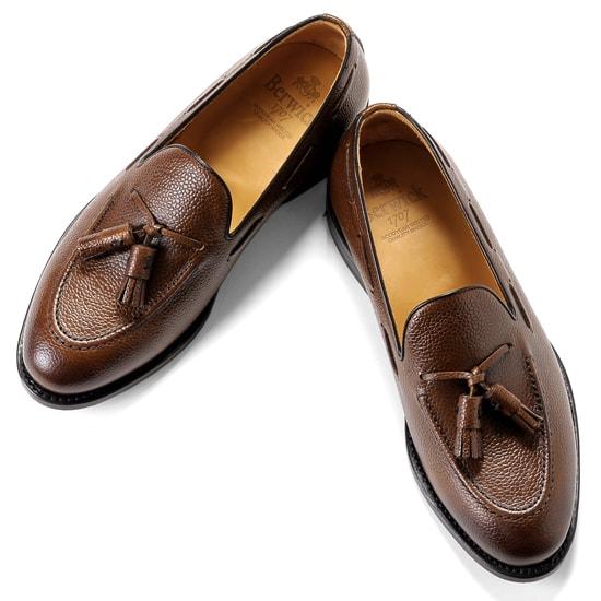 バーウィック Berwick1707 / スコッチグレインレザータッセルローファー「4171」(NIGER/ダークブラウン) | 靴 シューズ タッセル ローファー 茶 berwick ビジネス カジュアル レザーシューズ スリッポン レザー カジュアルシューズ