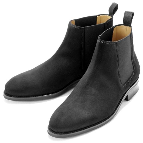 バーウィック Berwick1707 / スエードサイドゴアブーツ『351』(NEGRO/ ブラック ) 靴 サイドゴア ブーツ 黒 メンズ ブランド | サイドコアブーツ メンズブーツ スエード ダイナイトソール ビジネス ショートブーツ ビジネスシューズ 紳士靴
