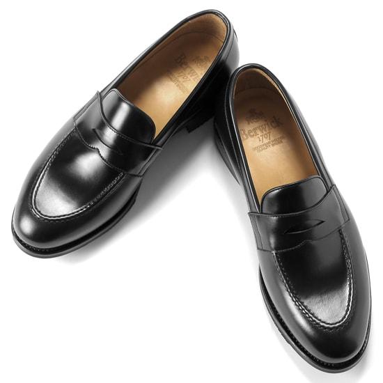 バーウィック Berwick1707 / バインダーカーフコインローファー『4172』(NEGRO/ ブラック ) 靴 ローファー 黒 メンズ ブランド | コードバン コードヴァン フォーマル コインローファー 革靴 本革 レザーシューズ 紳士靴