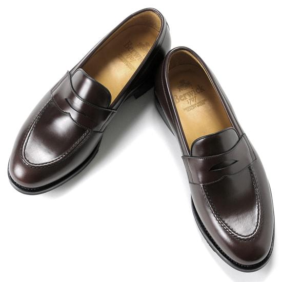 【クーポン取得&使用で15%OFF】バーウィック Berwick1707 / バインダーカーフコインローファー「4172」(MARRON/ ダークブラウン ) 靴 ローファー メンズ ブランド | ドレスシューズ ダイナイトソール フォーマル コインローファー 革靴 本革