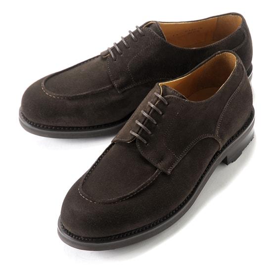 バーウィック Berwick1707 / スエードフレンチ外羽根Uチップシューズ『4410』(TESTA/ダークブラウン) ダイナイトソール リッジウェイ スエード 靴 Uチップ メンズ ブランド オンオフ兼用 カジュアル 革靴 レザーシューズ ビジネス 紳士靴