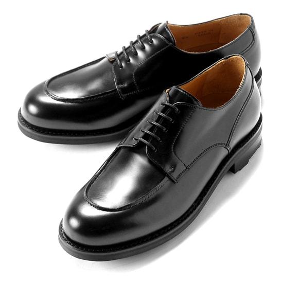 バーウィック Berwick1707 / バインダーカーフフレンチ外羽根Uチップシューズ『4410』(NEGRO/ブラック) ダイナイトソール リッジウェイ 靴 Uチップ メンズ ブランド オンオフ兼用 コードバン カーフ 革靴 レザーシューズ ビジネス 紳士靴