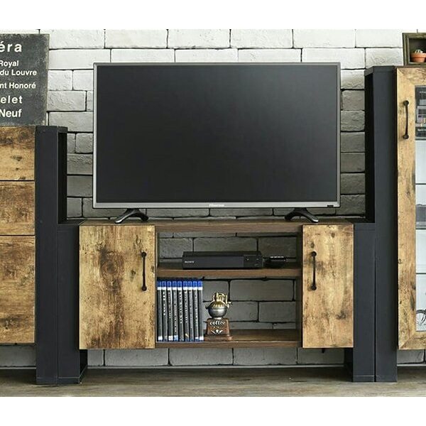 ブルックリンスタイル テレビボード 40型 幅90 高さ45 奥行33 ハイタイプ テレビ台 テレビラック 扉付き 収納 40インチ ローボード おしゃれ 脚付き 一人暮らし コンパクト 扉 木製 ロータイプ 男前 インテリア 塩系 カフェ系